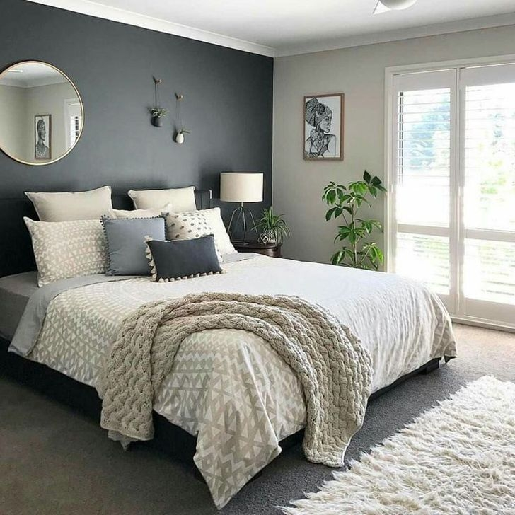 Delightful Bedroom Designs Ideas With Dark Wall That Breaks The Monotony 10