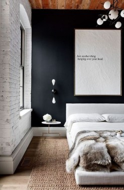 Delightful Bedroom Designs Ideas With Dark Wall That Breaks The Monotony 25