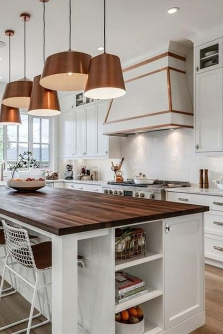 Hottest Copper Rose Gold Kitchen Themes Decorations Ideas 22