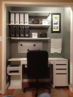 Outstanding Mini Office Design Ideas In The Living Room 09