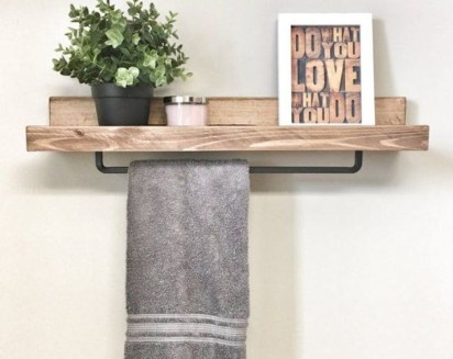 Relaxing Wooden Rack Ideas To Be Applied Into Any Home Styles 23