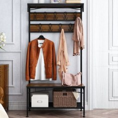 Relaxing Wooden Rack Ideas To Be Applied Into Any Home Styles 28