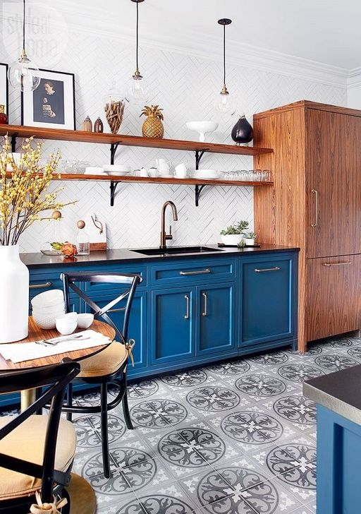 Splendid Kitchen Designs Ideas With Tones Of Vibrant Colors 14