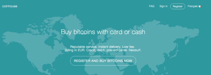 coinhouse bitcoin credit card