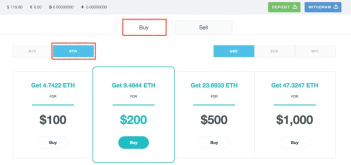 Buy Ethereum on Cex.io
