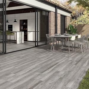 gris pecan wood look porcelain tile