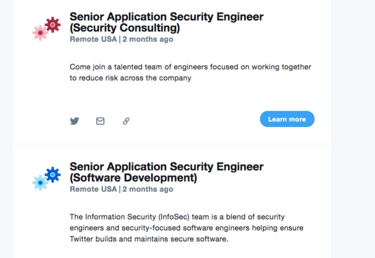 Há dois meses o Twitter tenta contratar engenheiros de segurança