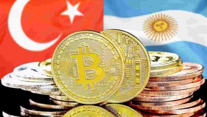 Bitcoin bate recordes de negociação no Brasil, Argentina e Turquia