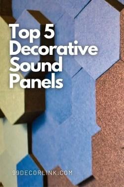 Top 5 Decorative Sound Panels