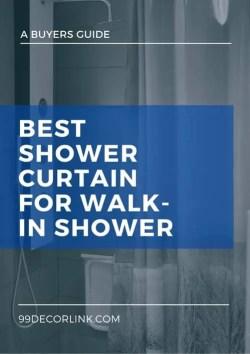 Best Shower Curtain For Walk-In Shower Pinterest