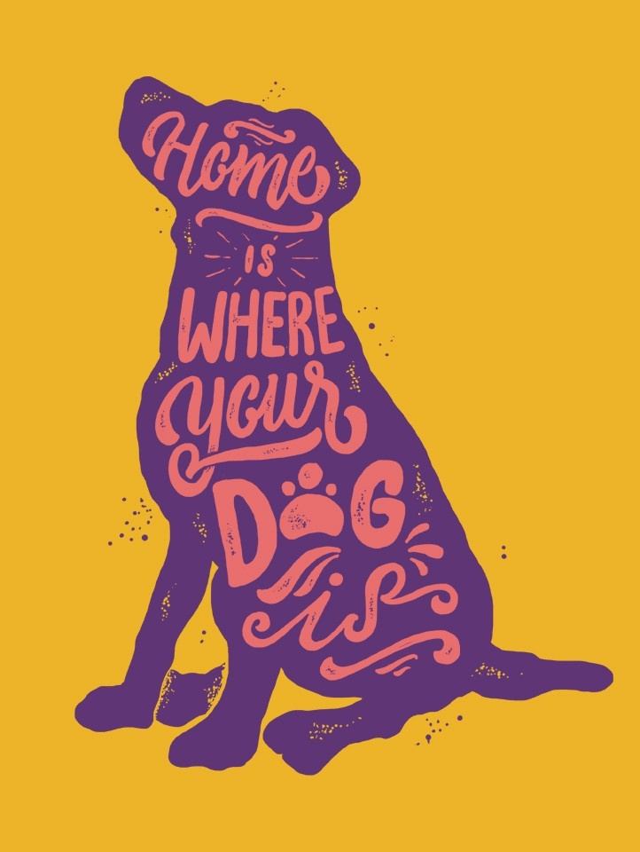 Typography t-shirt design for dog lovers