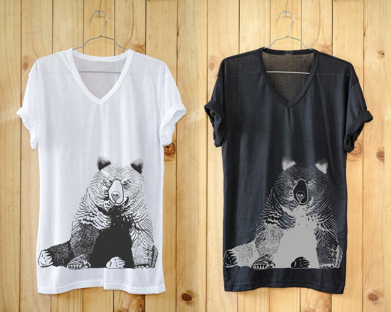 T-shirt illustration showing a bear