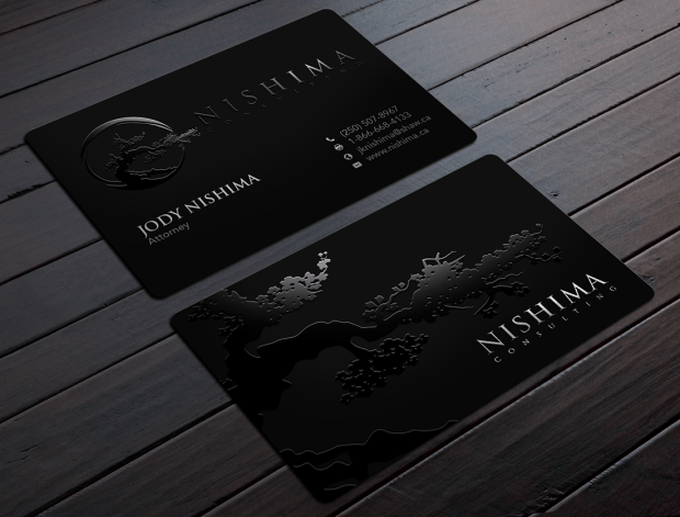 black lawyer business card
