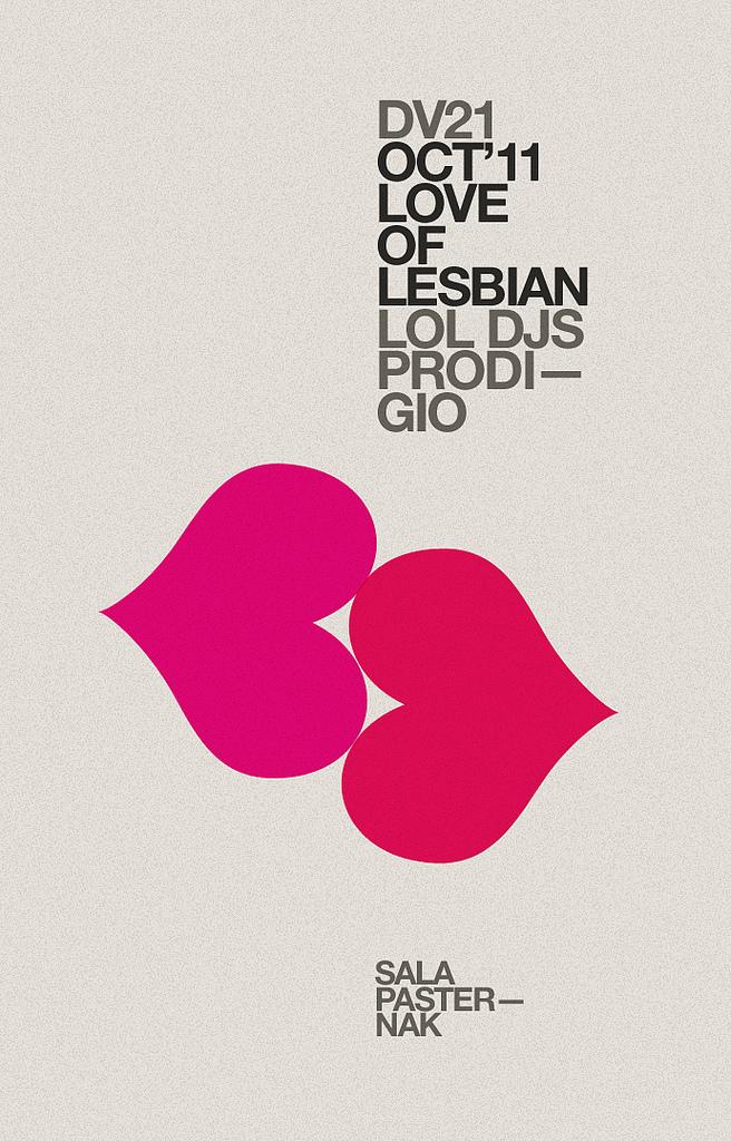 Love of Lesbians DJ poster
