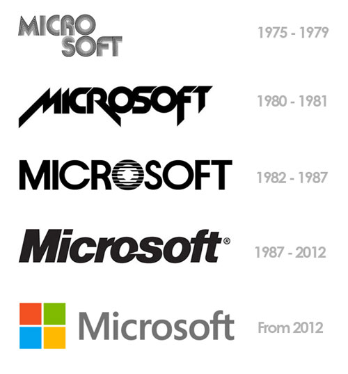 Microsoft's evolving logos