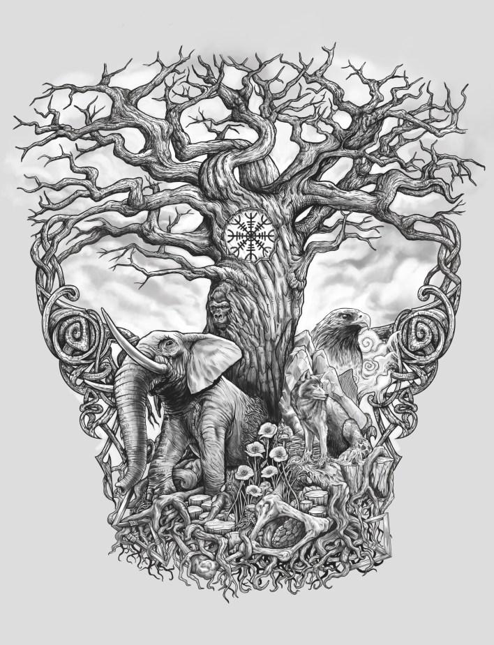 тату дерево жизни
