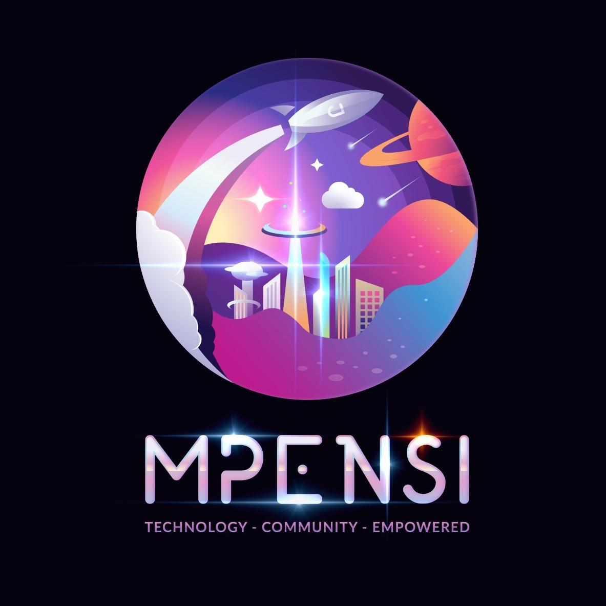 Retro futuristic skyline logo design for a technology brand