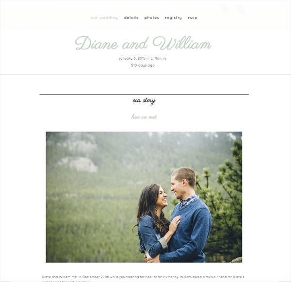 Wedding website ideas  how to create the perfect virtual space for     eWedding template  mywedding template  Wedding website