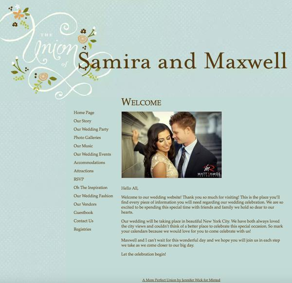 Wedding website ideas  how to create the perfect virtual space for     mywedding template  Wedding website