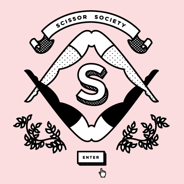 A logo for the Scissor Society