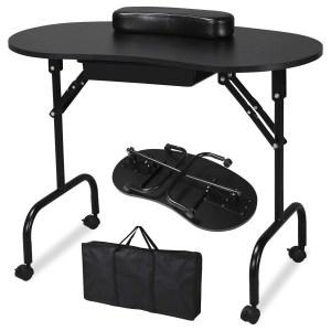 Yaheetech Portable & Foldable Manicure Table