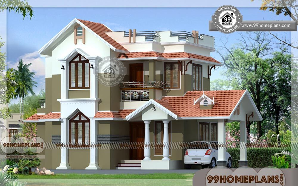 Two Floor House Design In India Small