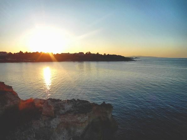 The Black Sea at Tsarevo, a town and seaside resort in southeastern Bulgaria.
