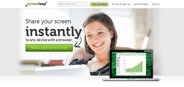 screenleap screen sharing software