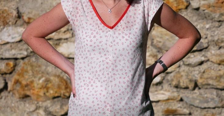 blouse Réglisse tissu à fleurs