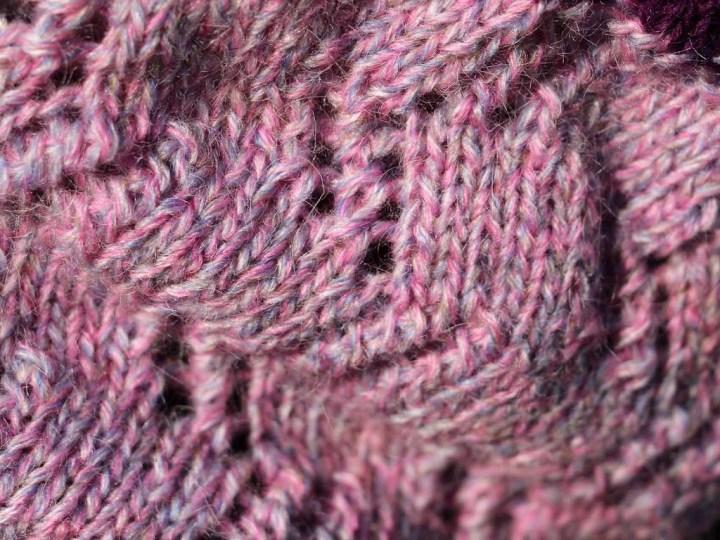 laine mélangée rose gris bleu