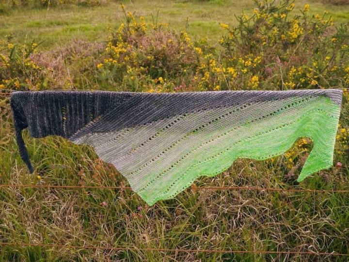 châle Pyros tricoté en LaFéeFil