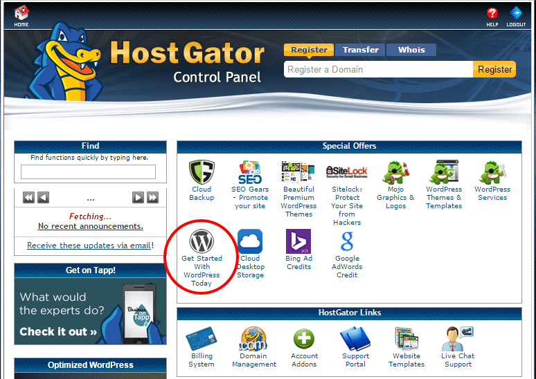 How to install wordpress - Location in the cPanel