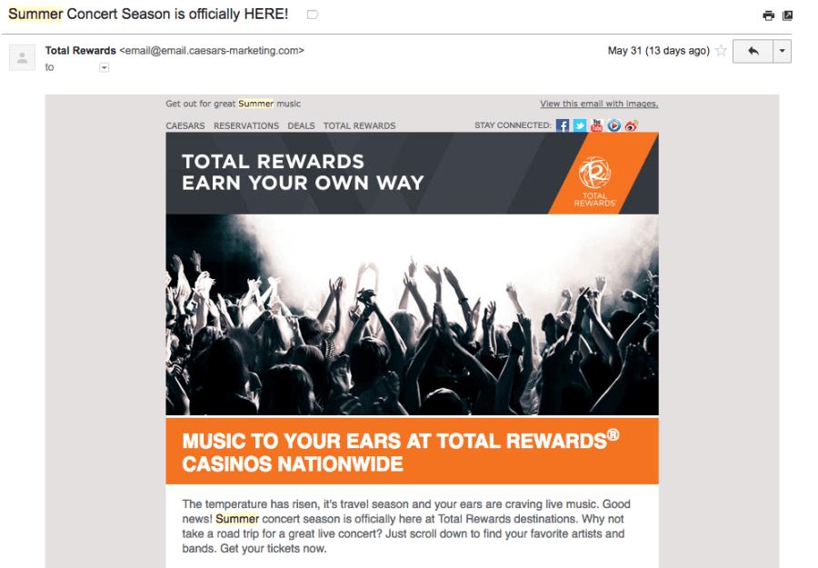 Summer Total Rewards Concert Series