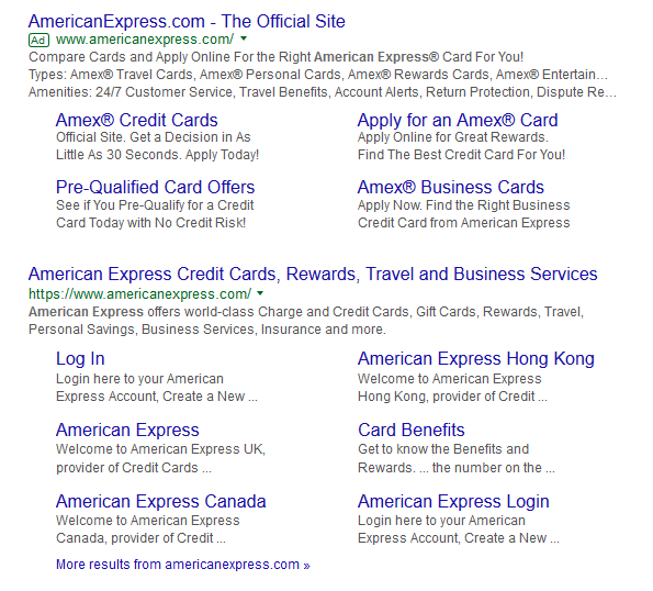 Why should you use adwords brand campaigns the ppc ad on top with all the ad extensions and the contentcopy in place helps leads a user towards their intended action even the sitelinks are placed reheart Choice Image