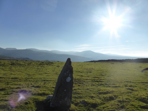 standing stone and sunspots