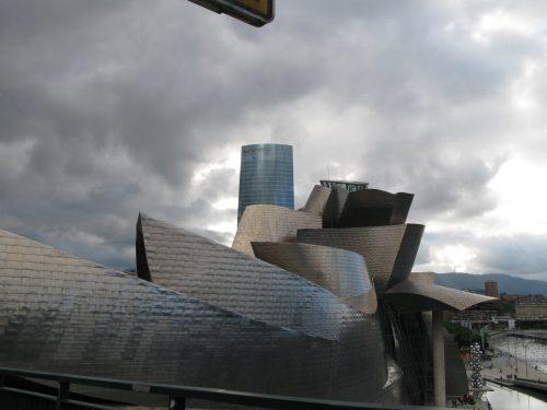 building - wavy metal panels