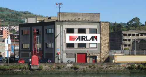 Airlan - riverside factory building