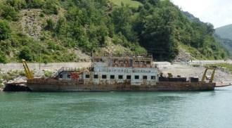 rusty derelict ferry