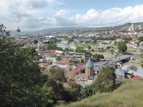 town view from top of hill