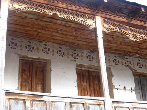stencil and fretwork decorated balcony