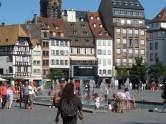 Marktplatz beim Dom in Straßbourg