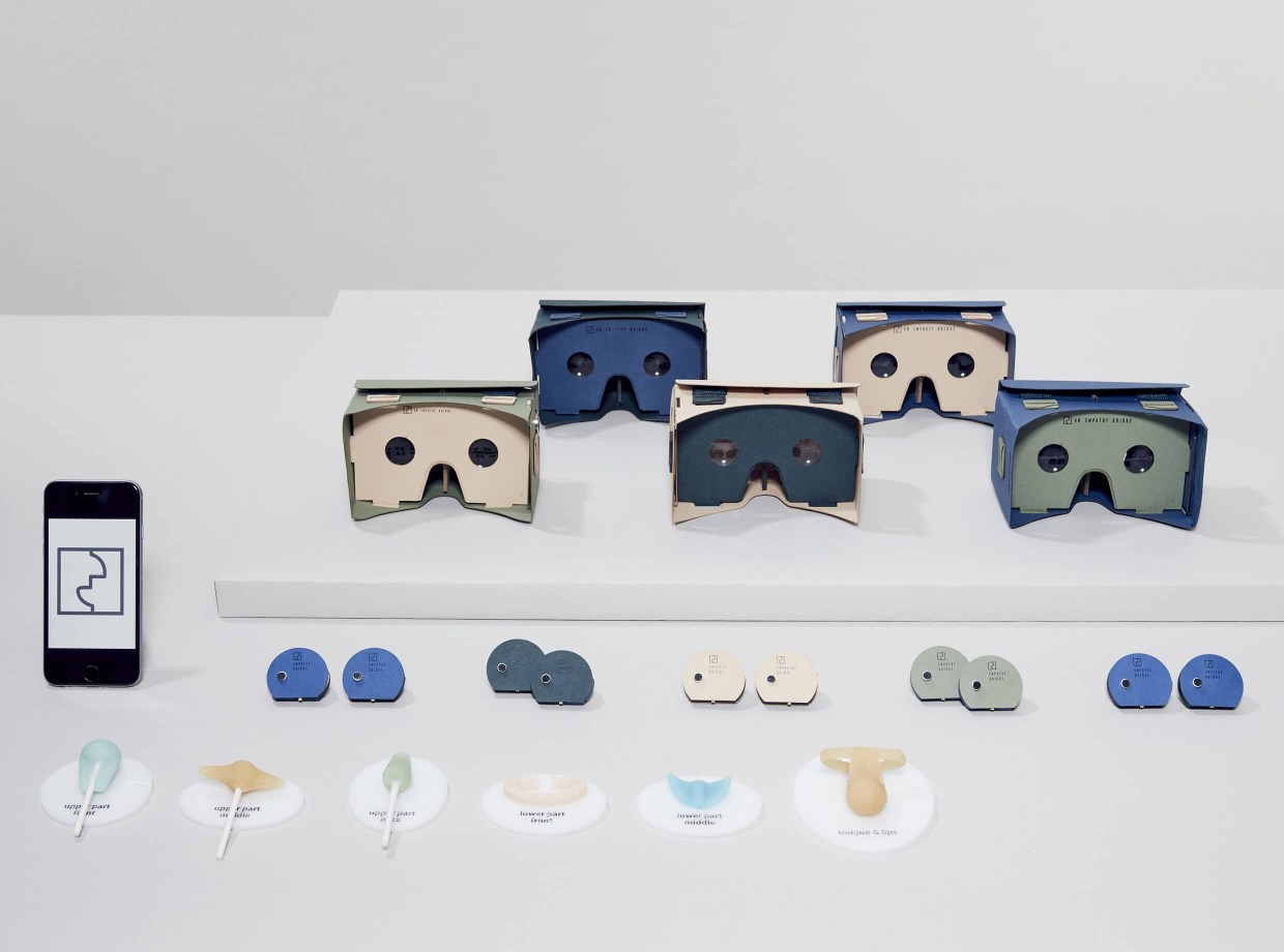 VR empathy kit with headsets and candy