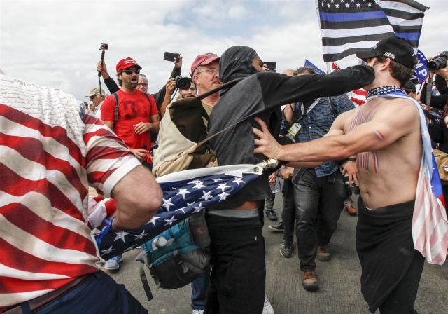 Violence erupts at pro-Trump rally in California; two cited in Philadelphia   Pittsburgh Post-Gazette