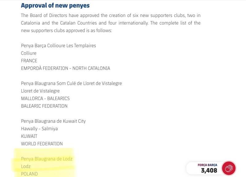 penya lodz official recognition