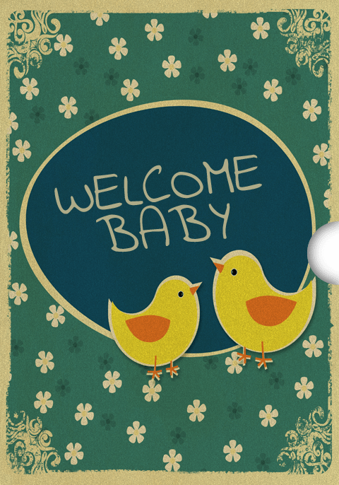 Digital new baby Gift Card Design for Shopify