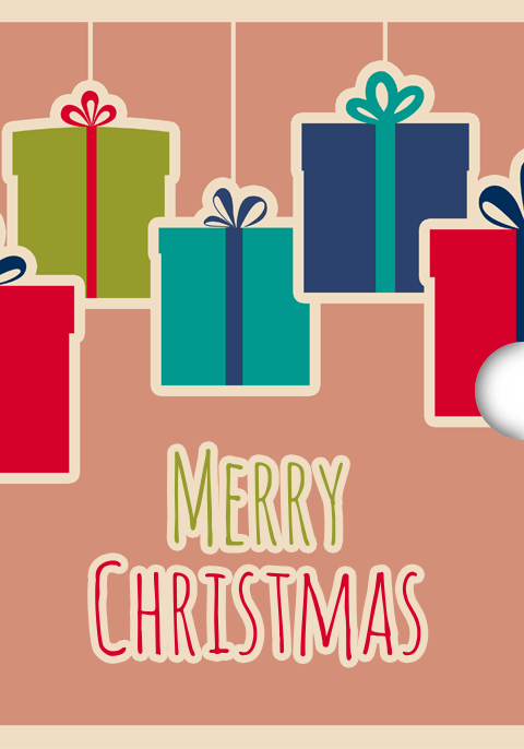 Digital Digital Christmas Gift Card Design