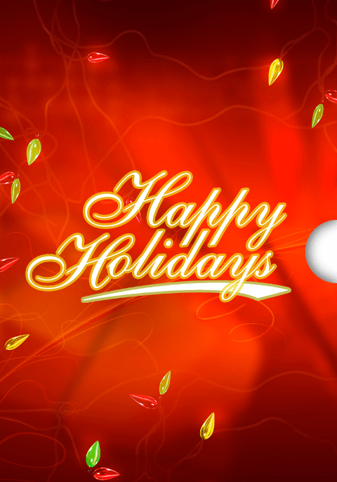 Happy Holidays Lights Custom Gift Card Design for Shopify