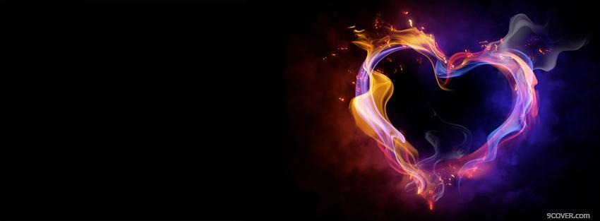Intense Fiery Heart Photo Facebook Cover