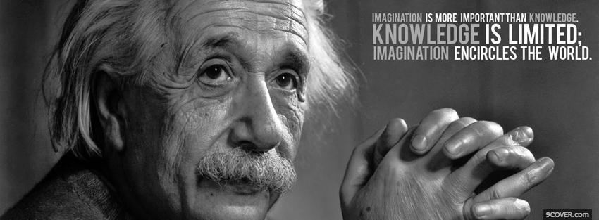 Image of: White Knowledge Is Limited Quote Cover Photo Facebook Cover Knowledge Is Limited Quote Photo Facebook Cover