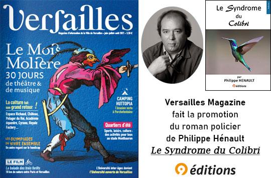 Article de Versailles Magazine sur Le syndrome du colibri de Philippe Henault